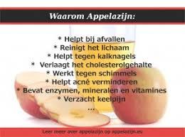 appelazijn waar goed voor