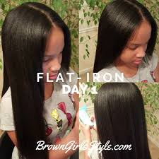 Flat Iron Hairstyles 54 Wonderful How Long Does Straightened Hair Last Brown Girls Style