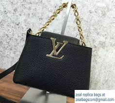 louis vuitton bags 2017 black. louis vuitton capucines mini chain bag m42935 noir cruise 2017 bags black c