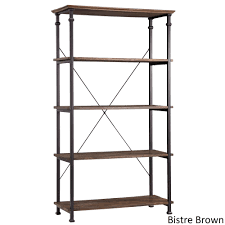 Myra Vintage Industrial Modern Rustic 40-inch Bookcase by iNSPIRE Q Classic  - Free Shipping Today - Overstock.com - 14535242