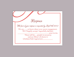 rsvp card template diy wedding rsvp template editable text word file download printable