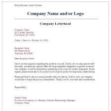 Company Letterhead Sample Letter With Letterhead Format Formal Business On Company Courtnews