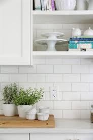 Ideas Plain White Backsplash Tile Best 25 Kitchen With Inspirations 4