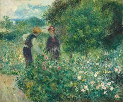 pierre auguste renoir picking flowers 1875 national gallery of art
