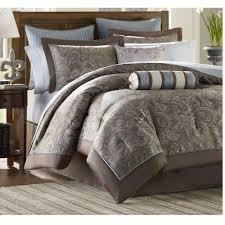unsurpassed king bed comforter set com luxury blue brown paisley bedding of 12