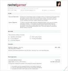 One Page Resume Template Best One Page Resume Template