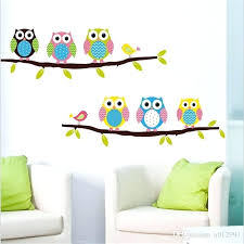 owl wall art stickers cartoon owl wall stickers removable for kids rooms decorative wall decals home