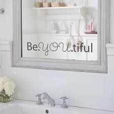 'Beyoutiful' Mirror Sticker. '