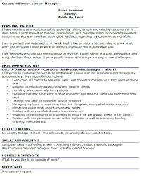 Cv Account Customer Service Account Manager Cv Example Icover Org Uk