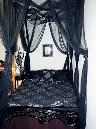 Palace 4-Poster Bed Canopy in Black