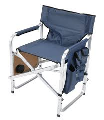 outdoor director chair. Amazon.com: Faulkner Aluminum Director Chair With Folding Tray And Cup Holder, Blue: Garden \u0026 Outdoor I