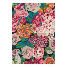 Floral Rug Designs Rose Peony Rugs 45005 In Cerise Pink By And Ideas