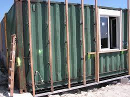 Ossature Bois Pour Accueillir Le Bardage Maison Bbc Container Bardage Bois Pour Container