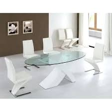 glass dining table set oval shaped glass top dining table round glass dining table set for