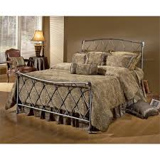 Hillsdale Silverton Full Spindle Bed in Brushed Silver - 1298-460