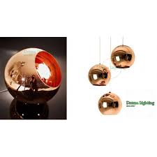 dream lighting best er decorative ceiling lights pendants copper mirror ball 200mm set of 3 rose