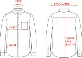 Size Chart Long Sleeve Shirts Saltura