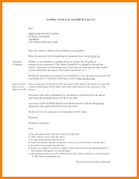 4 Examples Of Maternity Leave Letters Fancy Resume