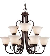 trans globe lighting 6529 1 laredo ii 9 light 30 inch antique bronze chandelier ceiling light