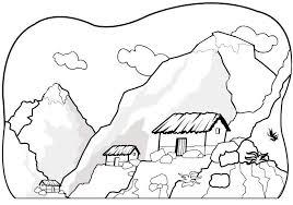 Small Picture Printable mountain coloring page Coloringpagebookcom
