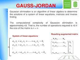 solve the system of linear equations using the gauss jordan elimination method math mathnasium wyckoff