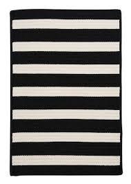 colonial mills barron black indoor outdoor braided area rug 5 x 7