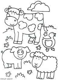 Farm Animal Coloring Pages Printable Cute Animal Colouring Pages