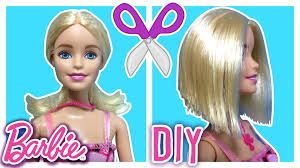 Diy How To Cut Barbie Doll Hair Barbie Hair Cut Barbie