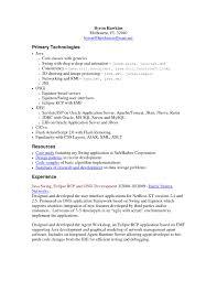 Best Ideas Entry Level Java Developer Resume Stunning Resume Format