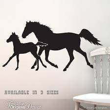 trotting horses wall decal year of the horse silhouettes equestrian art farm animals horse lover ranch country decor on horse silhouette wall art with trotting horses wall decal year of the horse silhouettes