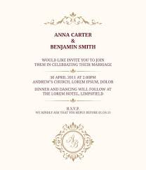 Wedding Card Template Magnificent Invitation Card With Monogram Wedding Invitation Save The Date