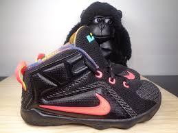 lebron james shoes 12 black. nike lebron james xii 12 data black basketball shoes size 10 c toddlers us g