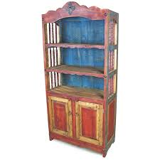 painted mexican furnitureMexican Painted Wood Open Hutch with Spindle Sides