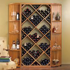 Wine Racks For Kitchen Cabinets Nfinity Diy Diamond Bin Dual Quarter Round Shelf Wine Rack Set