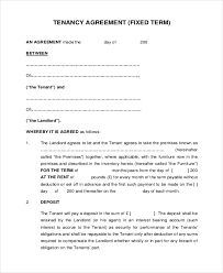 Tenant (referred to in the singular whether one or more) on the following terms and. Free 9 Sample Tenancy Agreement Forms In Pdf Ms Word