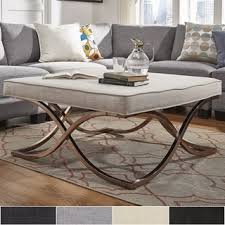 Solene X Base Square Ottoman Coffee Table   Champagne Gold By INSPIRE Q Bold