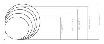 round table sizes intended for banquet neuro furniture design 8