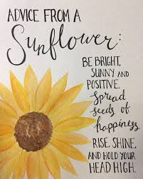 Sunflower Watercolor Quote Quotes Sonnenblume Zitate