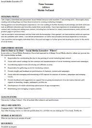 Social Media Executive Cv Example Learnist Org