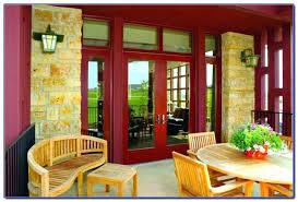 stylish french doors with screens and patio outswing andersen