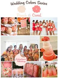 peach wedding colors. Mustard Peach and Coral Wedding Color Palette Robes by silkandmore