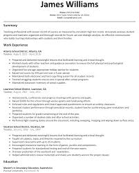 Teacher Resume Sample Resumelift Com