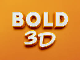 bold 3d text effect free