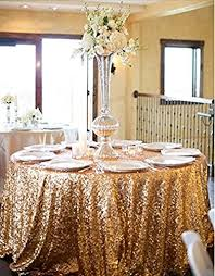 trlyc 120 round whole beautiful sparkly tablecloth luxury gold round sequin wedding table cloth