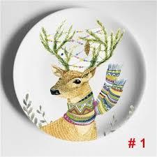 Decorative Wall Hanging Plates <b>Elk Zebra</b> Illustration Home ...