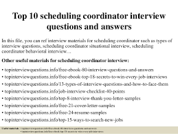 Thank You For Scheduling The Interview Top 10 Scheduling Coordinator Interview Questions And Answers