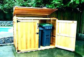 build outdoor wooden garbage storage bin white trash can isolated on cabinet outdo outdoor wooden garbage storage bin