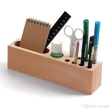 multi function pencil smartphone holder stand wooden desk organizer office storage container for pens markers business cards multi function pencil