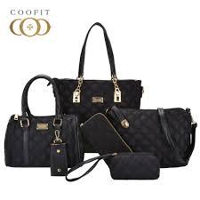 Coofit NEW <b>Brand</b> Luxury Lady <b>Handbag 6 Pcs</b>/set Composite <b>Bags</b> ...