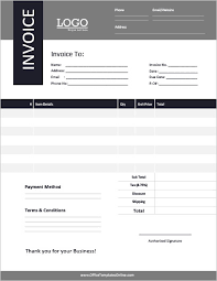 29+ Invoice Template Free Word 2003 Background